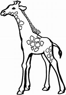 giraffe mit wenigen punkten ausmalbild malvorlage tiere