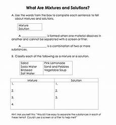 mixtures and solutions worksheet google search 5 grade science pinterest worksheets