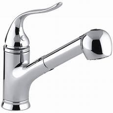 kitchen faucet kohler kohler faucet k 15160 cp coralais polished chrome pullout spray kitchen faucets efaucets