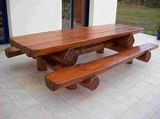 table et banc en bois pour exterieur table bancs d ext 233 rieur en rondins pour 12 personnes