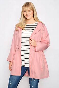 pink pocket parka jacket with sizes 16 to 36 yours clothing