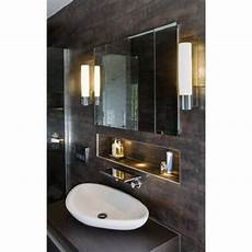 large ip44 tube shaped bathroom wall light ideal for use by mirror