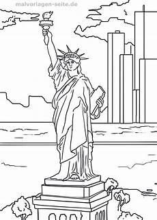 New York Malvorlagen Ausmalbilder Freiheitsstatue New York