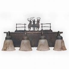 Lodge Bathroom Vanity Lights by Copper Bf600 Lodge And Cabin Bathroom Vanity Light