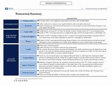 Confidential Overview by Highly Confidential I Transaction Overview