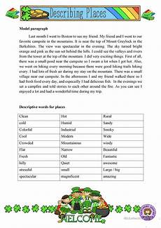 describing places worksheet free esl printable worksheets made by teachers