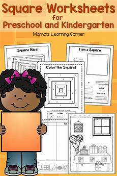 square worksheets for preschool and kindergarten mamas learning corner