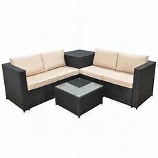 Polyrattan Lounge Set - jalano poly rattan lounge set sm1 gartenm 246 bel