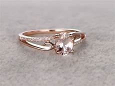 6x8 mm oval morganite engagement ring bbbgem