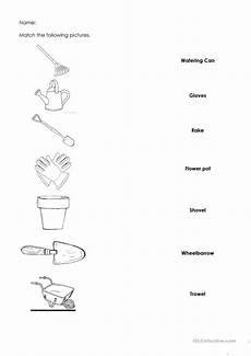gardening tools english esl worksheets for distance learning and physical classrooms