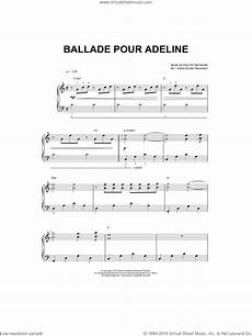 clayderman ballade pour adeline sheet music for piano solo