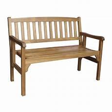 banc de bois banc 2 places de jardin en bois porto brun leroy merlin