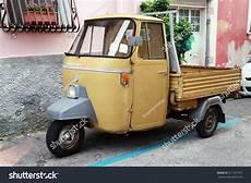gaeta italy august 21 2015 p 501 ape car is a three