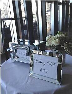 small mirrored wishing well box tying the knot