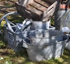Zinc Treasure Trove Gardening Emaille Garten