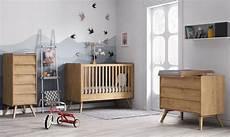 chambre bébé vintage baby vox vintage bois naturel 3 meubles lit 140x70