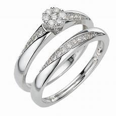 9ct white gold 30pt brilliant cut diamond bridal