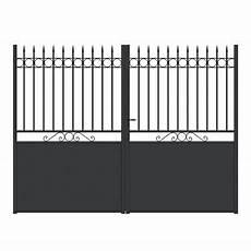 Portail Fer Vareilles Noir 300 X H 200 Cm Castorama