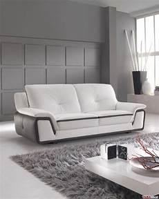 divano e divano divano moderno bianco e grigio in vera pelle