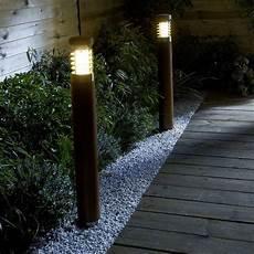 eclairage exterieur led castorama borne haute ext 233 rieure celeno bois h 80 cm castorama