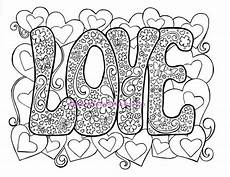 love adult coloring page hippie valentine s day