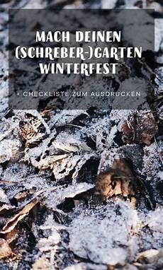 Mach Deinen Schreber Garten Winterfest Garten