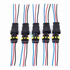 new 5 kit 3pin 3 way car waterproof electrical connector plug wire awg marine w ebay