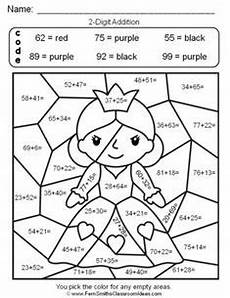 2nd grade color by number worksheets 16103 free printable coloring pages end of year school math math worksheets multiplication