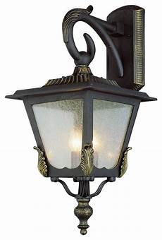 black gold and seeded glass exterior light victorian outdoor wall lights and sconces by