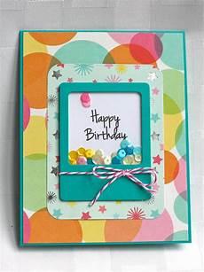 Ausgefallene Geburtstagskarten Selber Basteln - my craft spot dt post by ally birthday shaker card