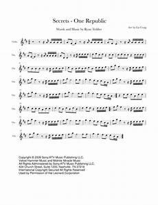 download secrets onerepublic for solo violin sheet music by onerepublic sheet music plus