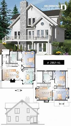 waterfront house plans with walkout basement cottage plan with walkout basement 3 to 4 bedrooms open