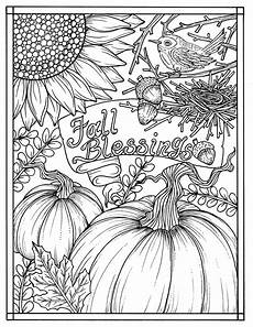 download fall blessings instant digital coloring page autumn etsy