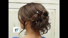 soft curled updo for hair prom or wedding