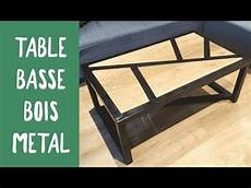fabrication d une table basse bois metal challenge