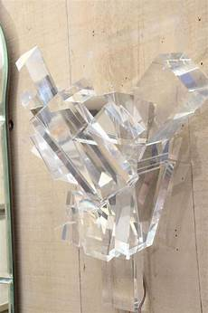 pair quot ice crystal quot lucite sconces designed by billy haines at 1stdibs