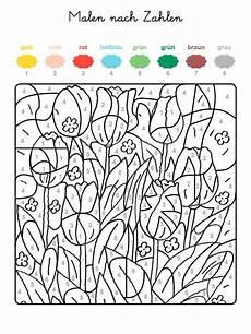 Malen Nach Zahlen Ausmalen Kostenlos Ausmalbild Malen Nach Zahlen Tulpenwiese Ausmalen