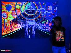 couple pyramid psychedelic art uv blacklight tapestry wall hanging backdrop deco ebay
