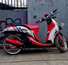 Modifikasi Fino Karbu by 68 Modifikasi Motor Yamaha Fino Karbu Terupdate Pinus Motor