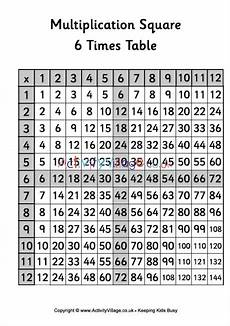 multiplication worksheets of 6 4538 6 times table multiplication square