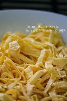 Maudi S Kitchen Telur Dadar Rawis