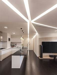modern ceiling lights illuminating shiny interior impression traba homes