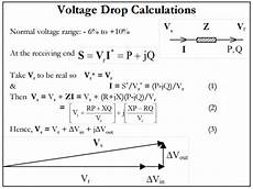 power transmission lines voltage drop electrical