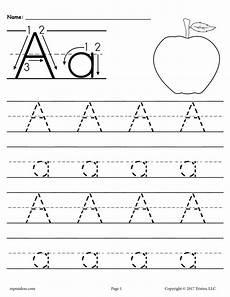 letter trace worksheets printable 23807 free printable letter a tracing worksheet supplyme