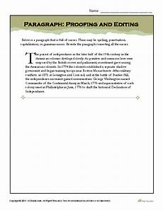 punctuation worksheets in paragraph 20797 paragraph proofing and editing writing worksheets paragraph writing images