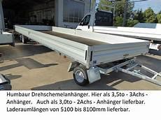 humbaur anhänger gebraucht humbaur hd358124 serie 8400 3 achser 3 5to drehschemel