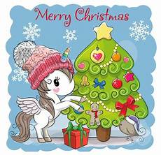 by april christmas christmas unicorn cartoon christmas tree unicorn illustration
