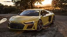2019 audi r8 v10 performance looks in yellow