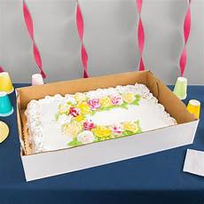 full sheet cake box 28 quot quot 5 quot white corrugated full sheet cake bakery box 25 bundle