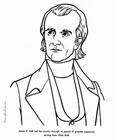 free printable president james k polk facts and coloring